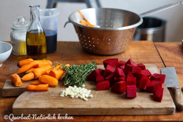 Rote Bete und Möhren.querbeetnatuerlichkochen
