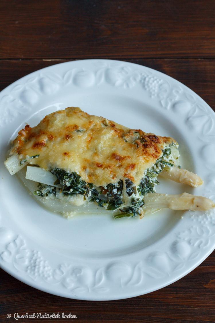 Spargel-Spinat-Lasagne l Querbeet-Natuerlichkochen