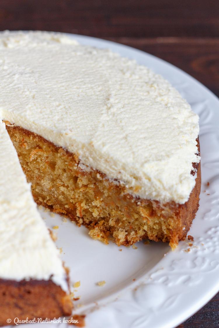 Carrot Cake mit Honig | Kuchen | Rezept | querbeetnatuerlichkochen.de